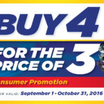 """Buy 4 for the price of 3"" Shocks & Struts NAPA promotion"