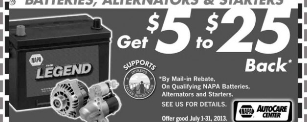 $5 to $25 Back on NAPA Batteries at Advanced Auto Clinic
