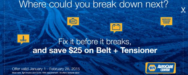 Save Money on Belts & Hose