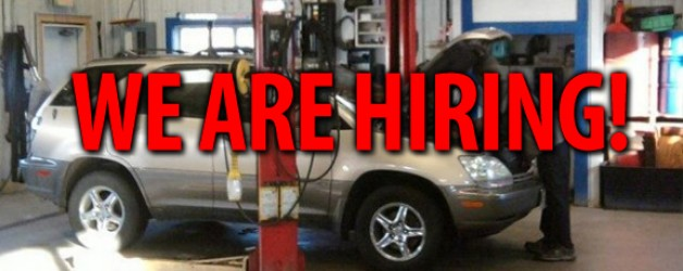 We Are Hiring Auto Technicians – Apply Today!