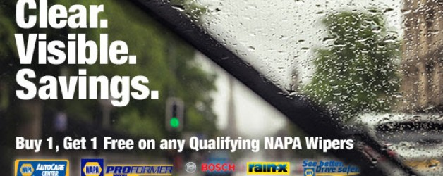 """Buy 1, Get 1 Free"" On Any Qualifying NAPA Wipers"