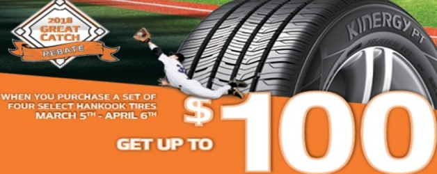 Hankook Tire Special: Up to $100 Off a Set of Tires!